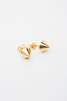 Made Her Think Yellow Gold Cone Studs