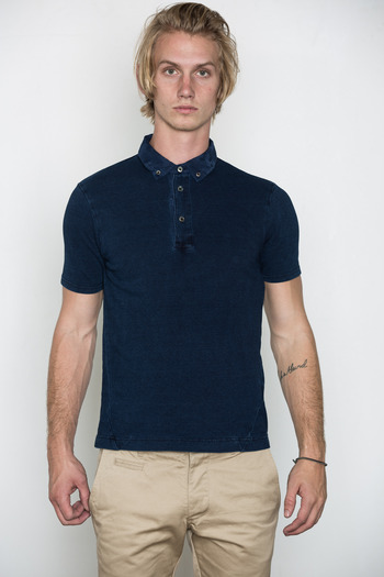 Wings + Horns - Enzyme Wash Camo Collar Polo