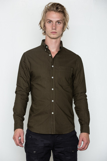 Wings + Horns - Olive Oxford Shirt