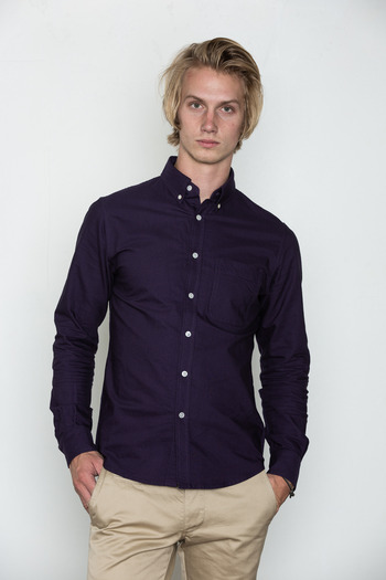 Wings + Horns - Purple Oxford Shirt