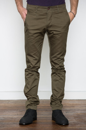 Wings + Horns - Olive West Point Chino
