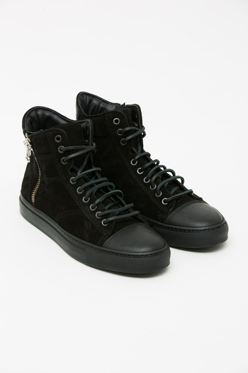Wings + Horns - Black Suede Hi-Top Sneaker