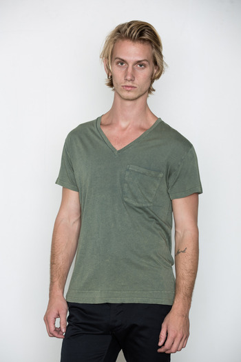 Cheap Monday Men's - Ocean Tim V-Neck Tee