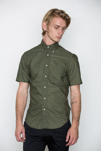 Gitman Bros. Vintage - Olive S/S Overdyed Oxford