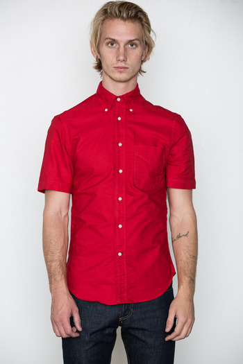 Gitman Bros. Vintage - Red S/S Overdyed Oxford