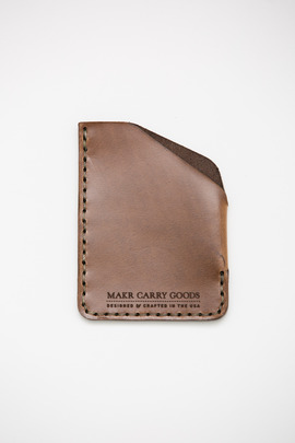 Makr Natural Cordovan Angle Wallet