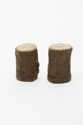 Roost Mini Log Salt & Pepper Shakers