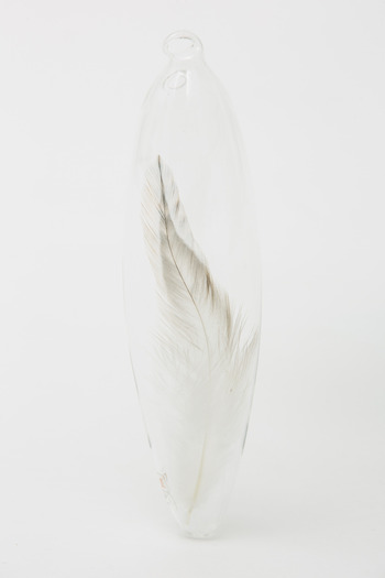 Roost - Large Single White Feather Ornament