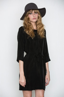 Minimarket Leather Trimmed Eliv Dress