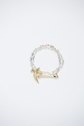 Miansai Gold Anchor/Silver Chain Bracelet