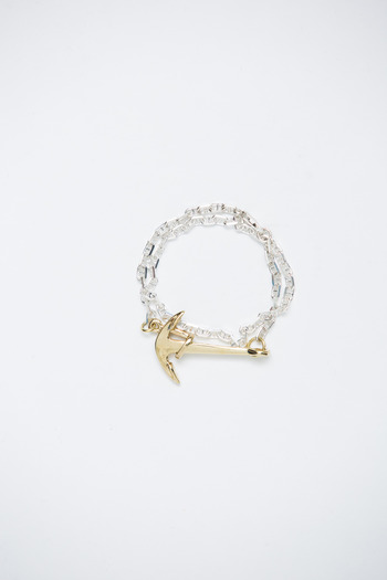 Miansai - Gold Anchor/Silver Chain Bracelet