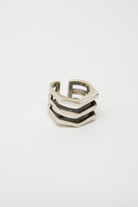 TOMTOM Silver Chevron Mini Ring