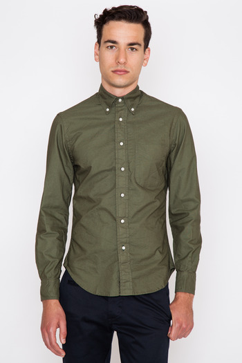 Gitman Bros. Vintage - Olive Overdyed Oxford