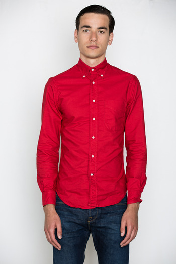 Gitman Bros. Vintage - Red Overdyed Oxford