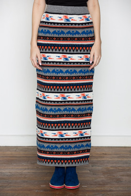 Kai-aakmann Women's Crazy Fair Isle Skirt