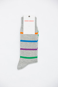 Henrik Vibskov Men's Grey Airport Socks