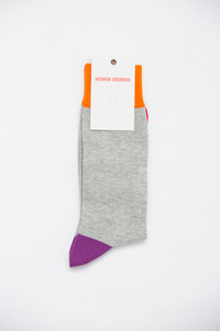 Henrik Vibskov Men's Light Grey Dong Socks