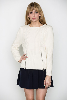 Ann-Sofie Back Cable Knit Sweater