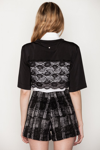 Ann-Sofie Back - Cropped Lace T-Shirt