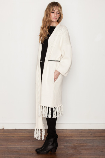 Ann-Sofie Back - Cable Knit Belted Cardigan