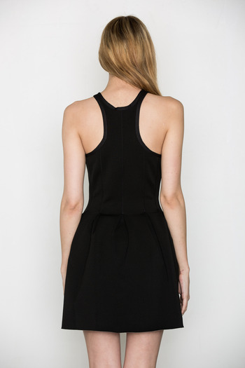 T by Alexander Wang Women's - Black Neoprene Sleeveless Dress