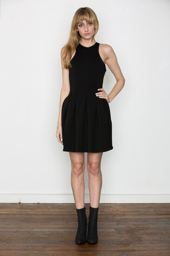T by Alexander Wang Women's - Black Neoprene Sleeveless Dress