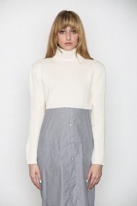Ann-Sofie Back Cable Knit Crop Top