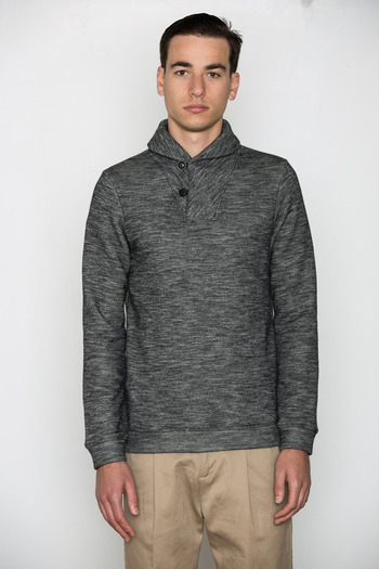 Wings + Horns - PO Shawl Collar Sweater