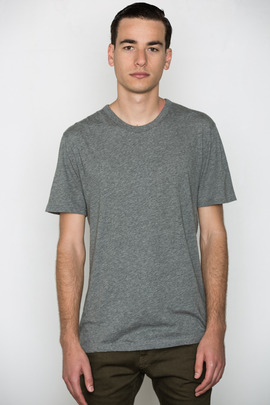 T by Alexander Wang Men's Heather Grey Classic S/S Tee
