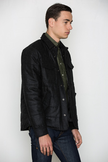 Wings + Horns - Quilted Wool Shirt Jacket