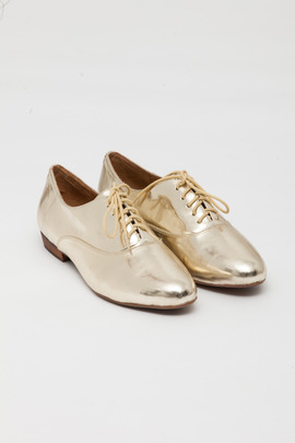 Jeffrey Campbell Gold Uniform Oxford