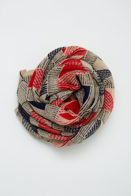 A Peace Treaty Red Massa Triangle Scarf