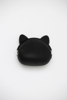 Ikuyo Ejiri Black Pochi Cat Coin Purse