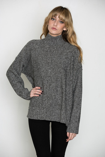 T by Alexander Wang Women's - Marled Mock Neck Sweater