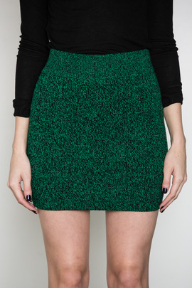 T by Alexander Wang Women's Vine Marled Knit Mini Skirt