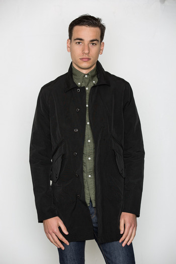 Wings + Horns - Black Grunge Cloth Mac Coat