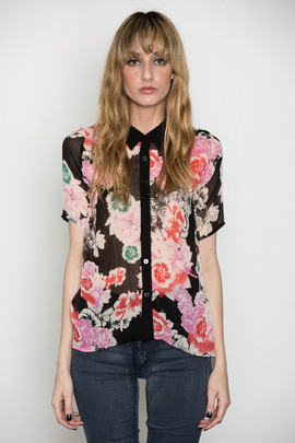 Something Else Drippy Floral Shirt