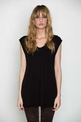 T by Alexander Wang Women's Black Classic Muscle Tee