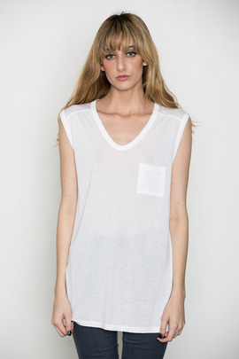 T by Alexander Wang Women's White Classic Muscle Tee