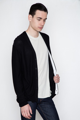T by Alexander Wang Men's Hidden Placket Cardigan