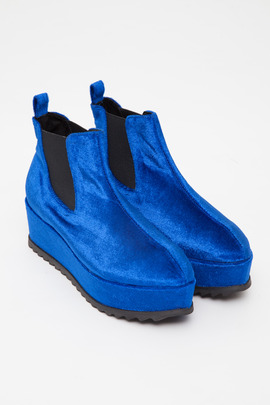 UNIF Blue Velvet Hellsea Boot