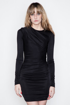 T by Alexander Wang Women's Pique Drape L/S Dress