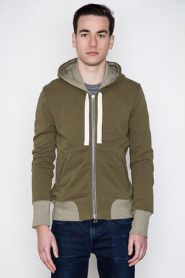 Wings + Horns Canvas Green Vintage Fleece Hoodie