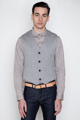 Wings + Horns Double-Faced Knit Vest