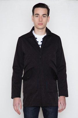 Wings + Horns Knitted Nylon Mac Coat