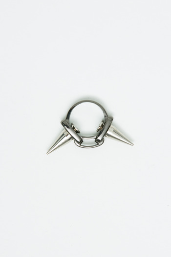 Joomi Lim - Hematite Double Spike Ring
