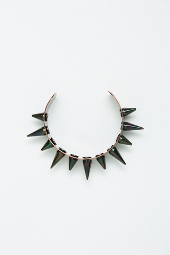 Joomi Lim - Burgundy/Black Spike Cuff
