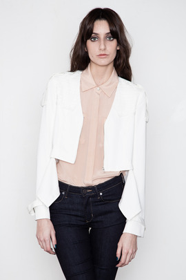 Funktional White Image Cut Jacket