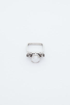 Joomi Lim White Contrast Crystal Ring