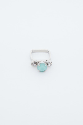 Joomi Lim Mint Contrast Crystal Ring